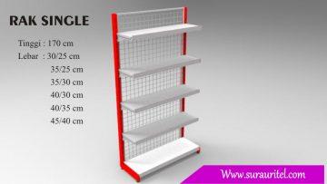 Rak Single side tinggi 170 cm
