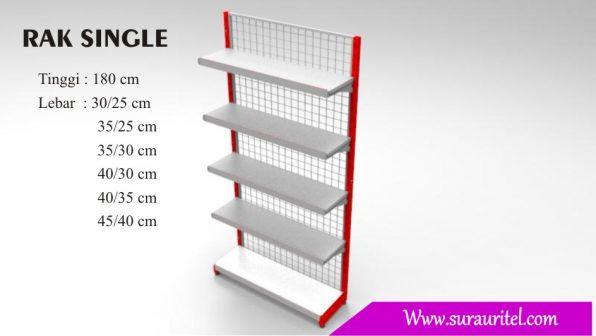 Rak Single side tinggi 180 cm