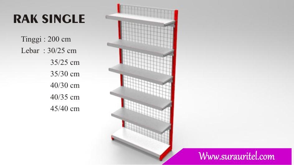 Rak Single side tinggi 200 cm