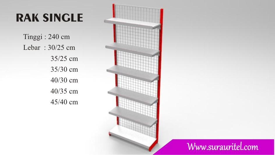 Rak Single side tinggi 240 cm